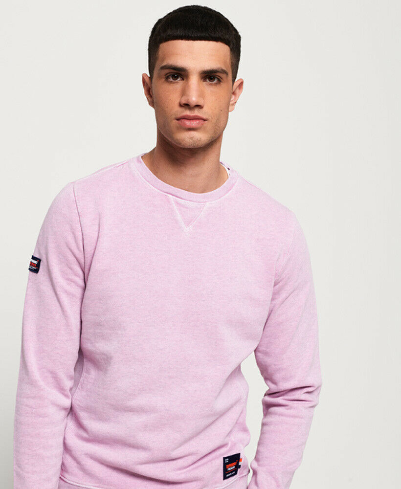 Mens-Superdry-Dry-Originals-Crew-Sweatshirt-Powder-Pink thumbnail 34