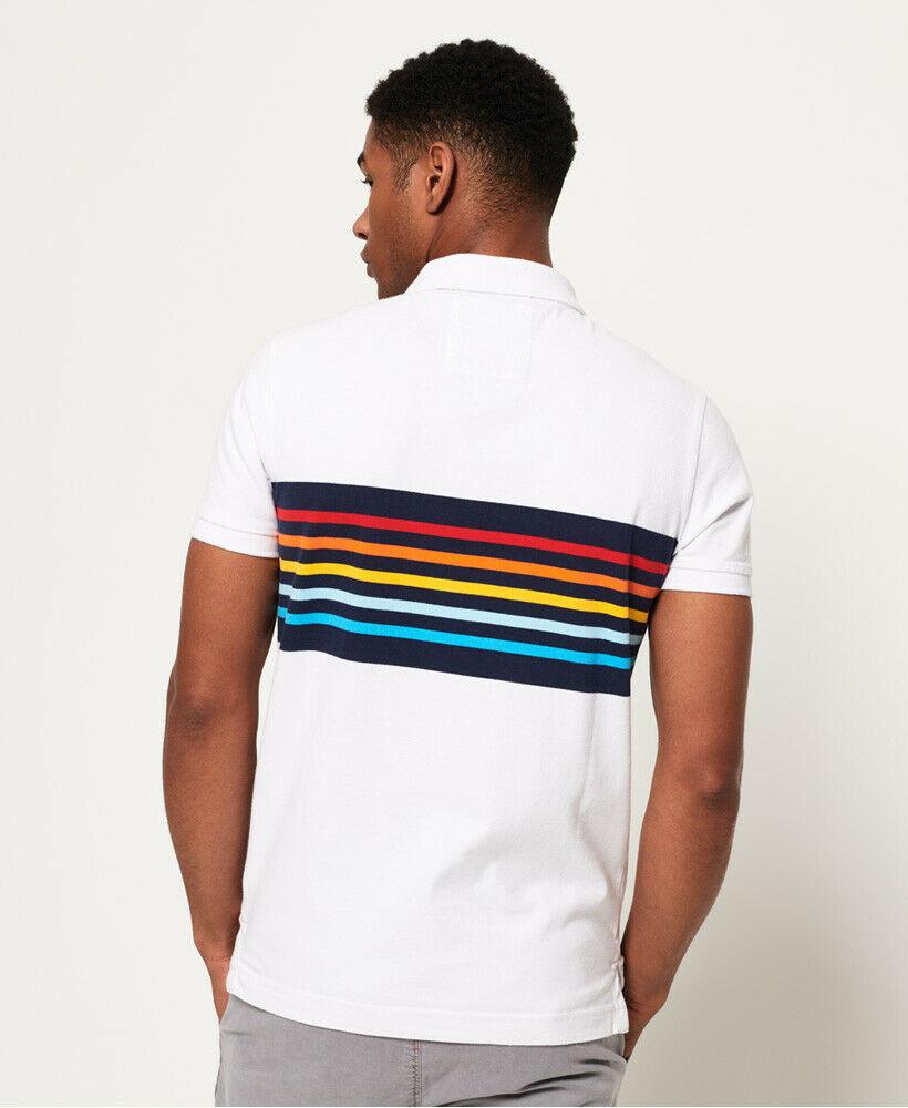 Mens-Superdry-Classic-Cali-Banner-Polo-Shirt-Optic-White thumbnail 12