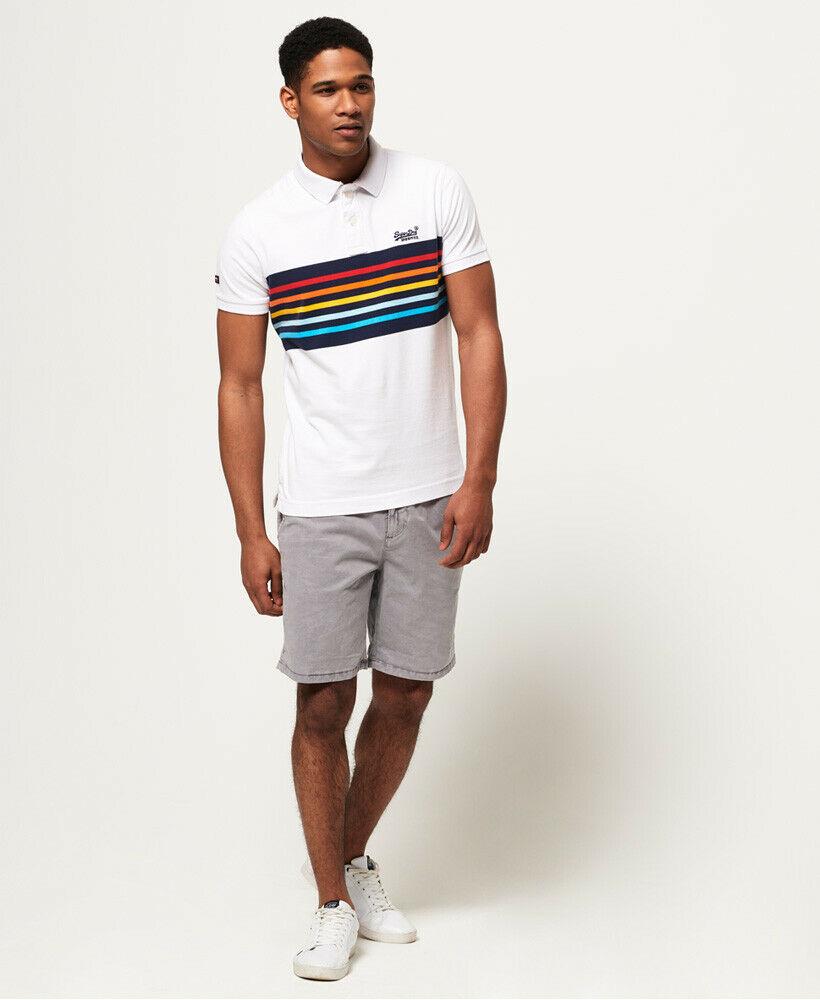Mens-Superdry-Classic-Cali-Banner-Polo-Shirt-Optic-White thumbnail 18