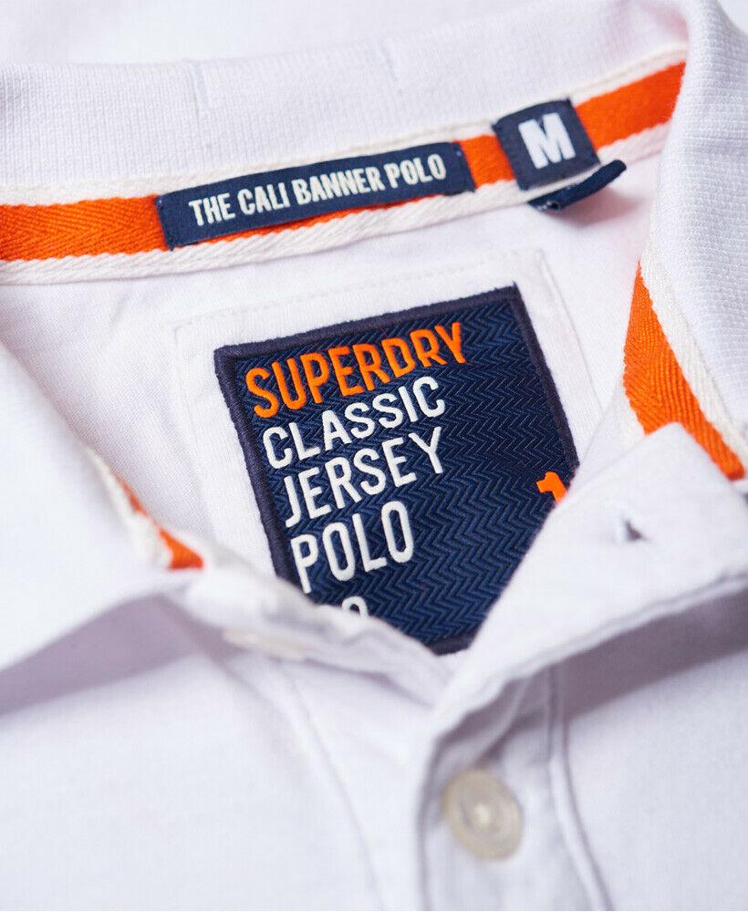 Mens-Superdry-Classic-Cali-Banner-Polo-Shirt-Optic-White thumbnail 30