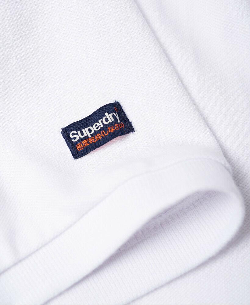 Mens-Superdry-Classic-Cali-Pique-Polo-Shirt-Optic thumbnail 11