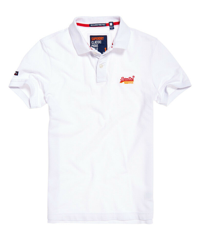 Mens-Superdry-Classic-Cali-Pique-Polo-Shirt-Optic thumbnail 14