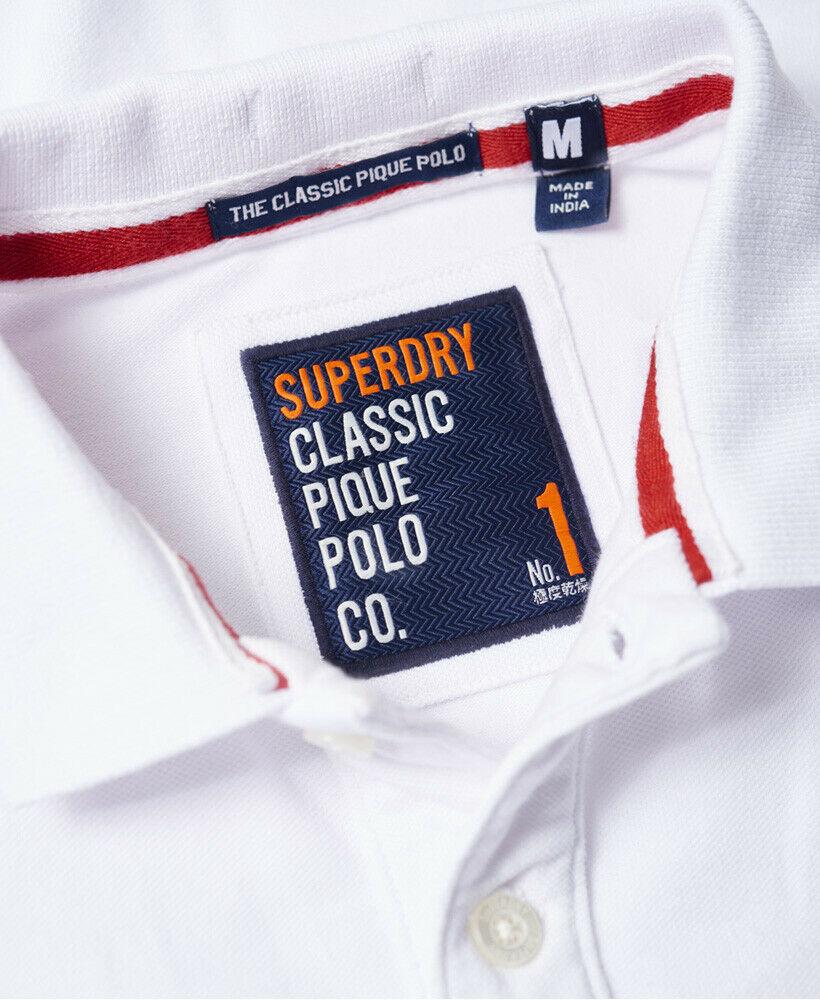 Mens-Superdry-Classic-Cali-Pique-Polo-Shirt-Optic thumbnail 13