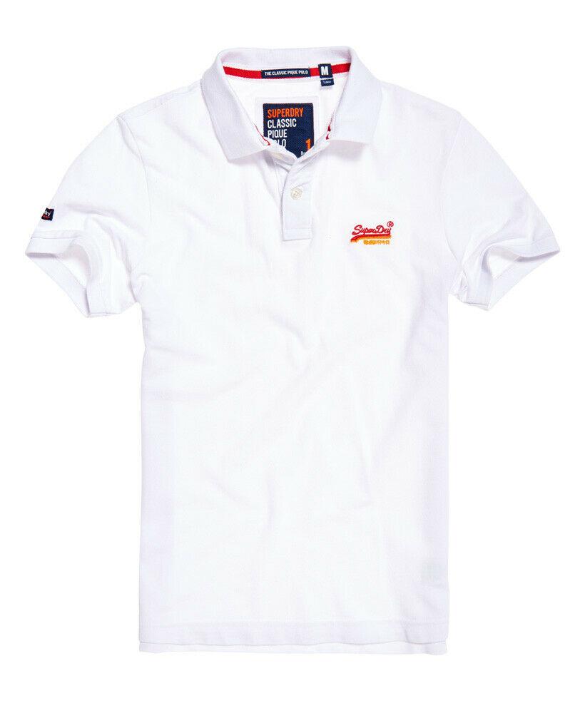Mens-Superdry-Classic-Cali-Pique-Polo-Shirt-Optic thumbnail 38