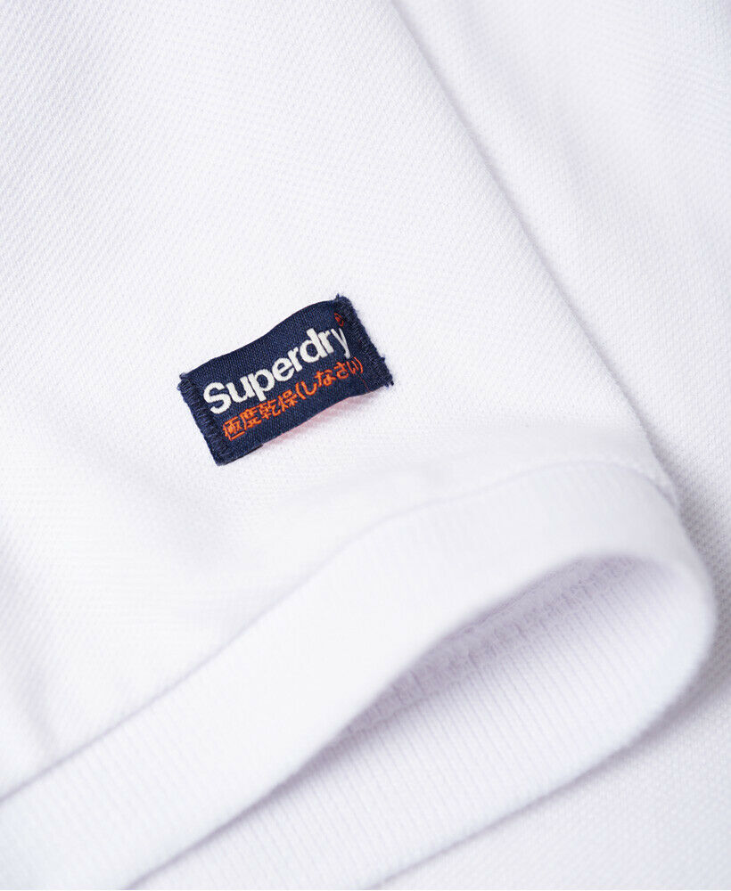 Mens-Superdry-Classic-Cali-Pique-Polo-Shirt-Optic thumbnail 43