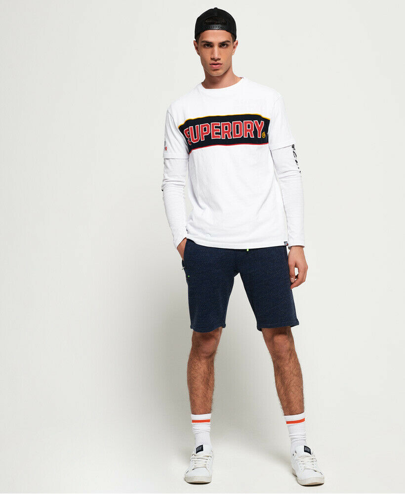 Mens-Superdry-Orange-Label-Hyper-Pop-Shorts-Depths-Blue-Grit thumbnail 20