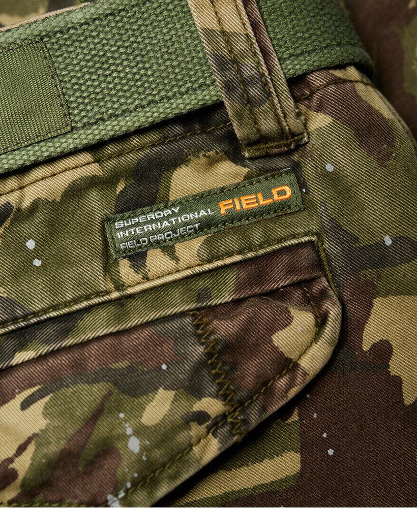 Mens-Superdry-Core-Cargo-Heavy-Shorts-Camo-Splatter thumbnail 14