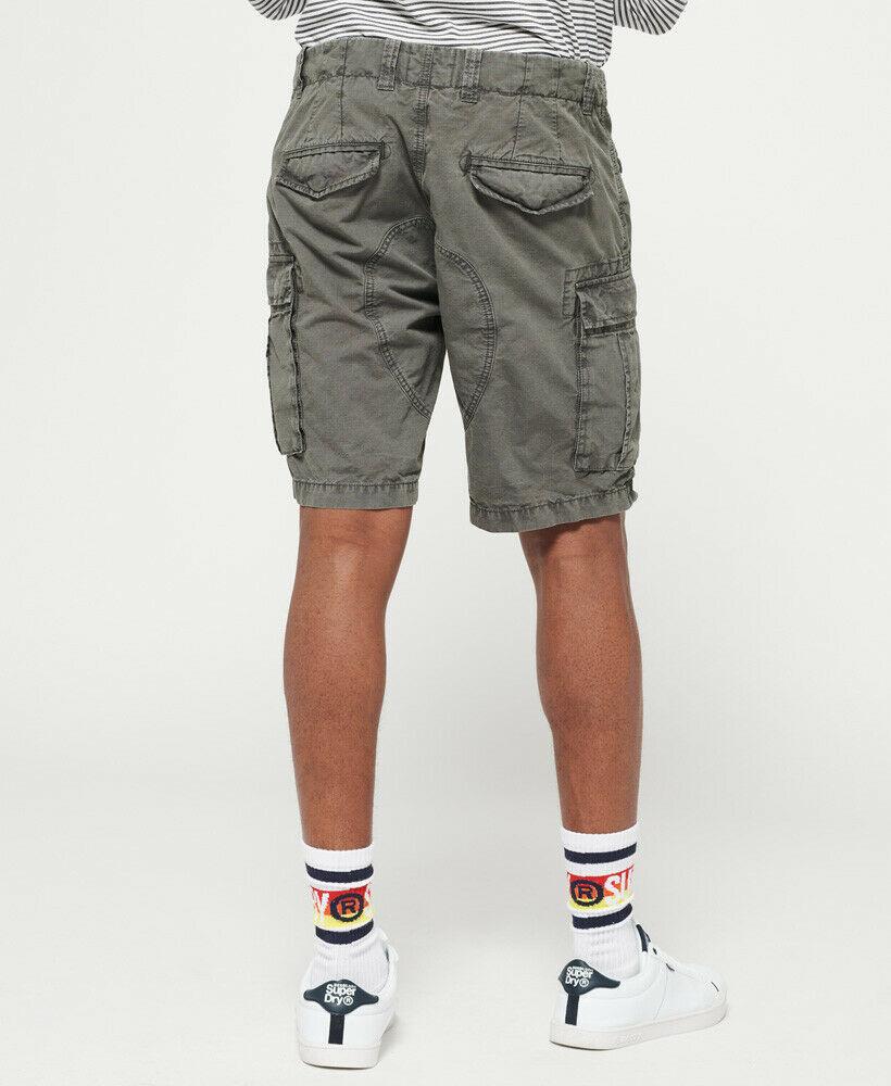 Mens-Superdry-Core-Lite-Ripstop-Cargo-Shorts-Oil-Skin-Grey thumbnail 7