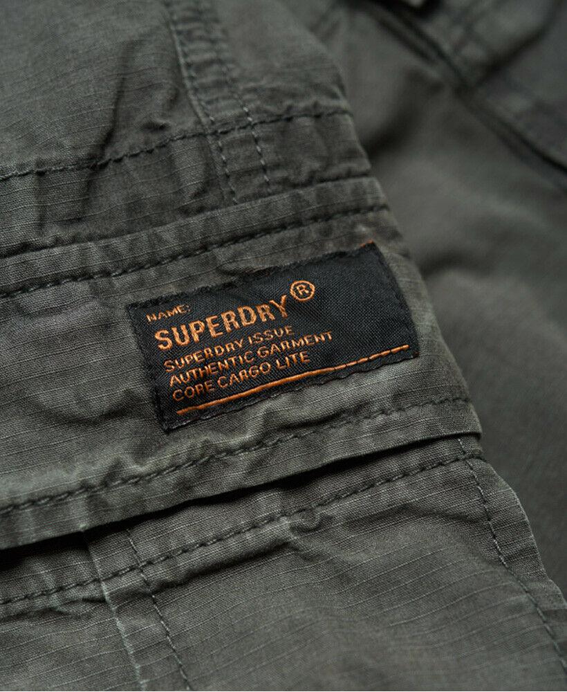 Mens-Superdry-Core-Lite-Ripstop-Cargo-Shorts-Oil-Skin-Grey thumbnail 6