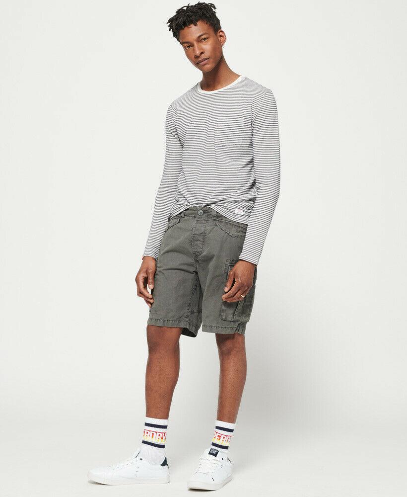 Mens-Superdry-Core-Lite-Ripstop-Cargo-Shorts-Oil-Skin-Grey thumbnail 24