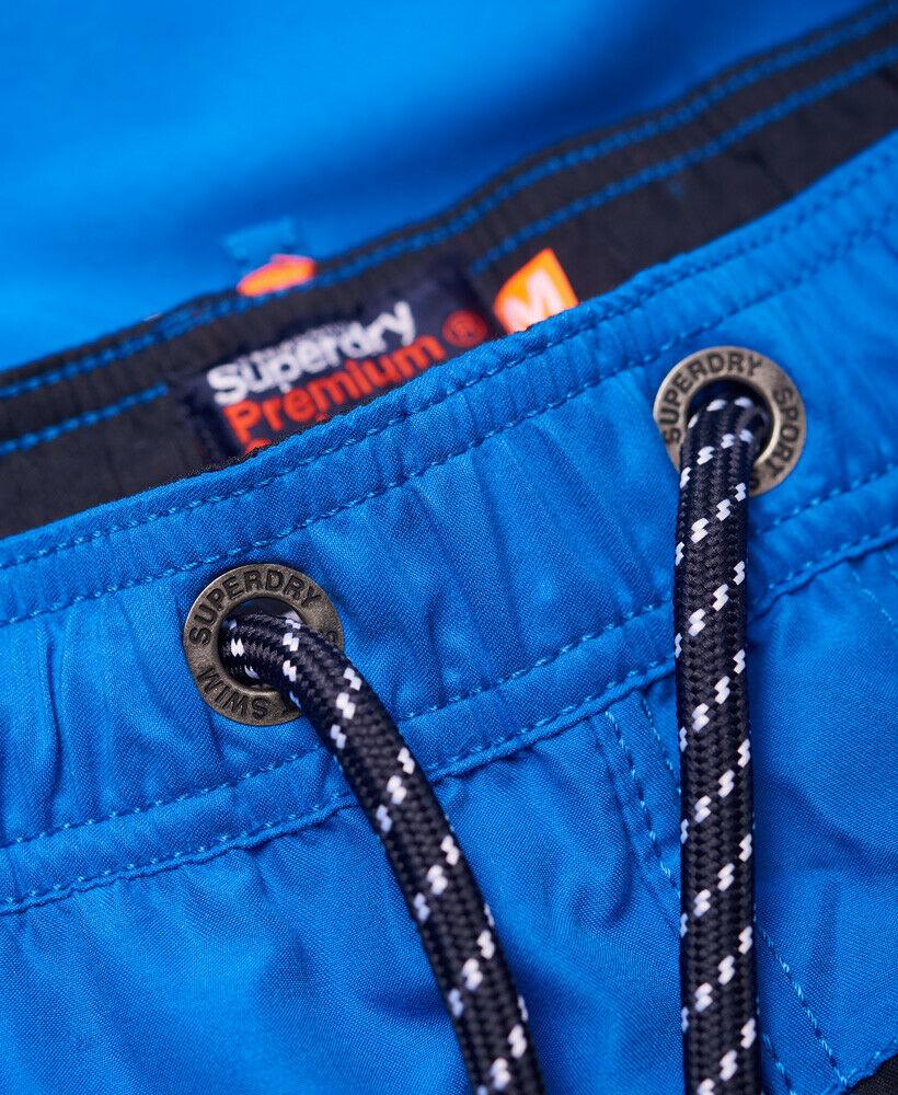 Mens-Superdry-Water-Polo-Banner-Swim-Shorts-Deck-Blue thumbnail 19