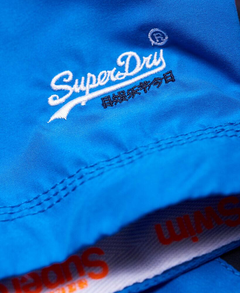 Mens-Superdry-Water-Polo-Banner-Swim-Shorts-Deck-Blue thumbnail 48