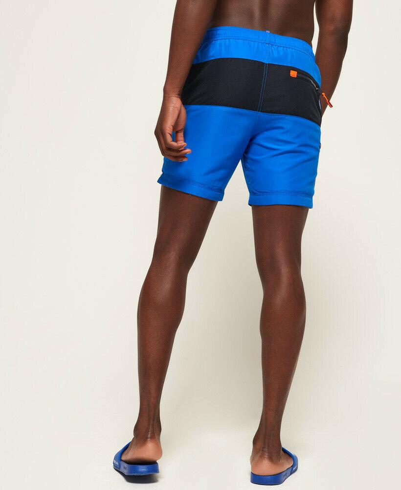 Mens-Superdry-Water-Polo-Banner-Swim-Shorts-Deck-Blue thumbnail 41