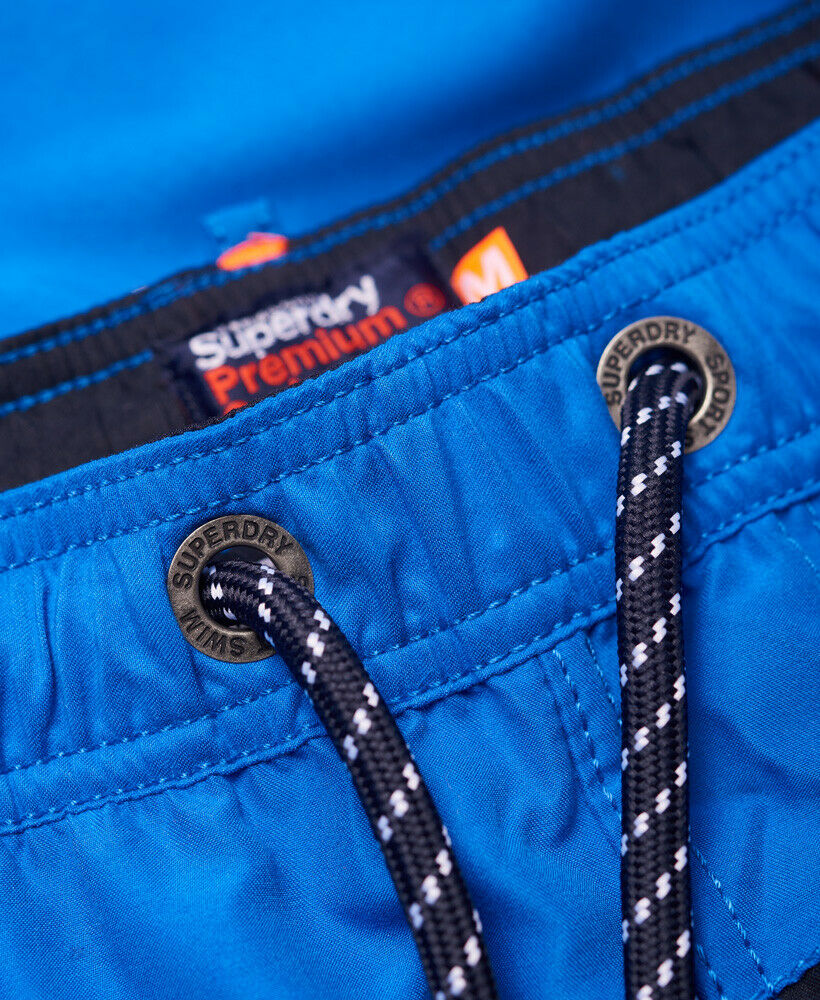 Mens-Superdry-Water-Polo-Banner-Swim-Shorts-Deck-Blue thumbnail 68