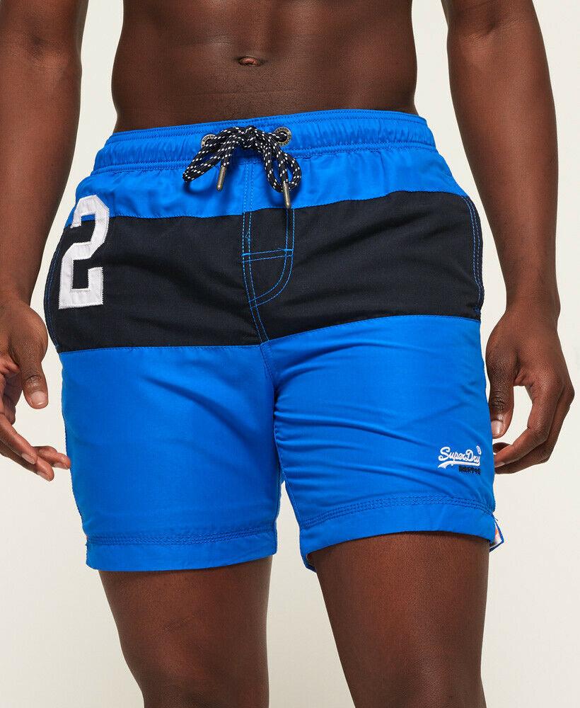 Mens-Superdry-Water-Polo-Banner-Swim-Shorts-Deck-Blue thumbnail 62