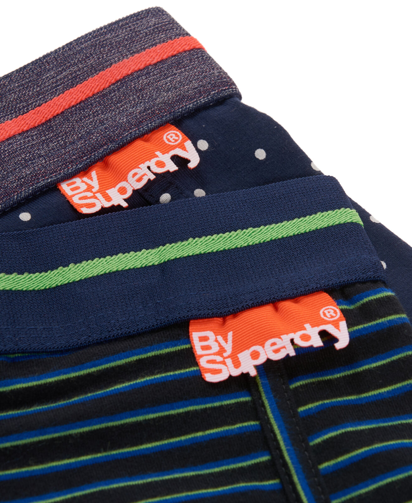 Mens-Superdry-Sport-Boxers-Double-Pack-Newport-Stripe-Green thumbnail 4