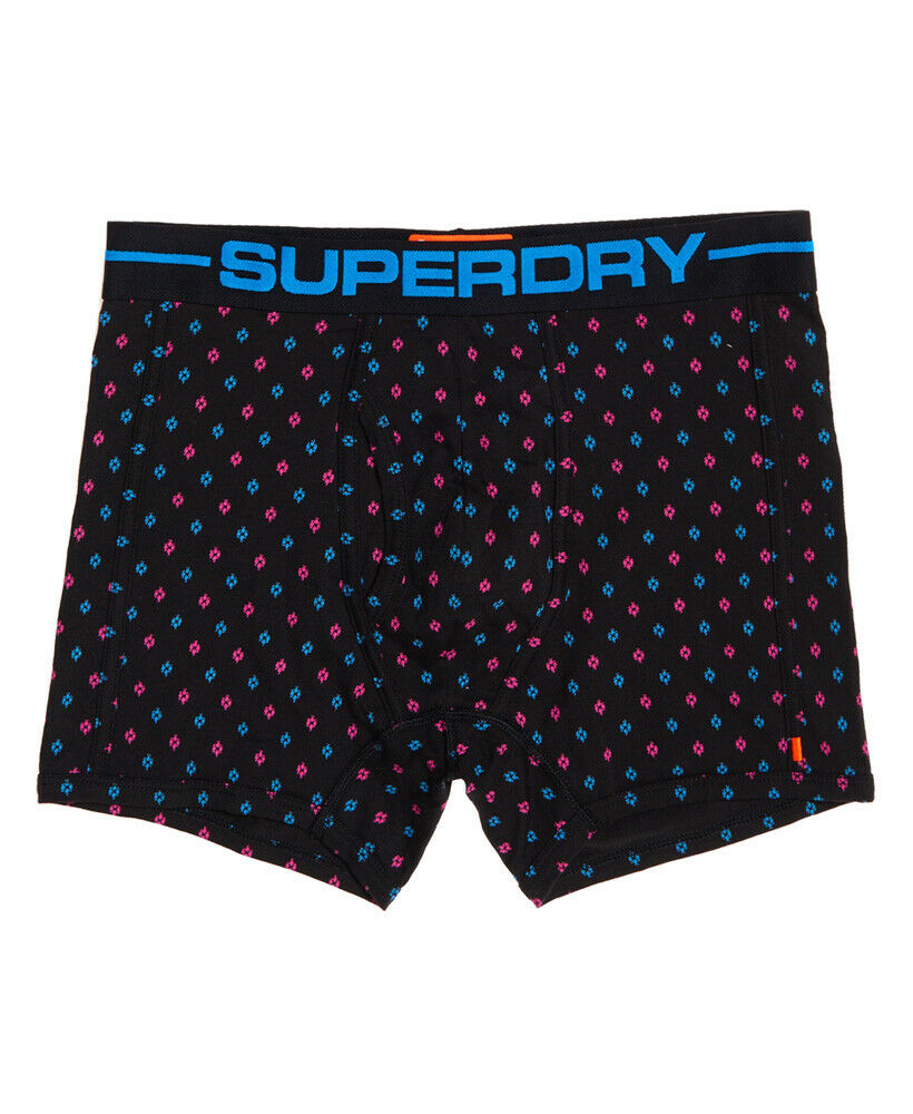 Mens-Superdry-Sport-Boxers-Double-Pack-Miami-Pink thumbnail 4