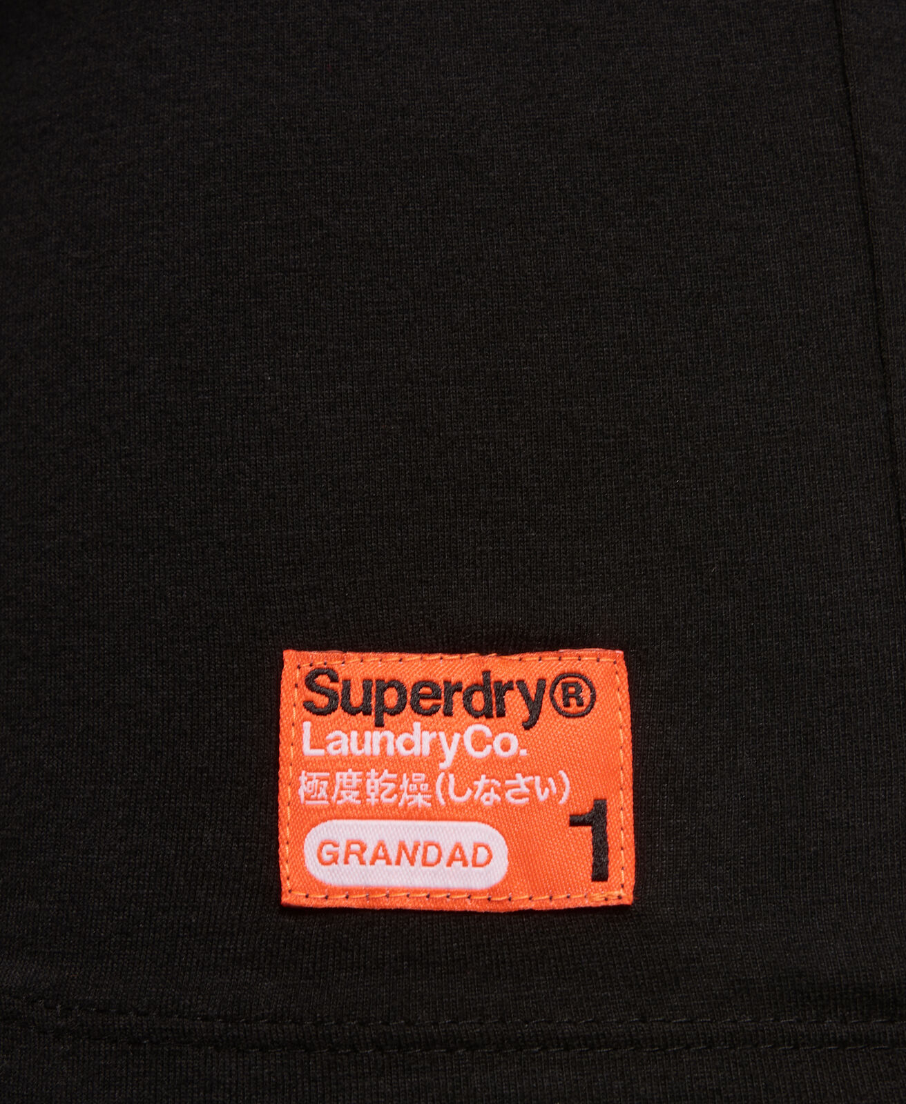 Mens-Superdry-Laundry-Organic-Cotton-Grandad-Top-Laundry-Black thumbnail 9