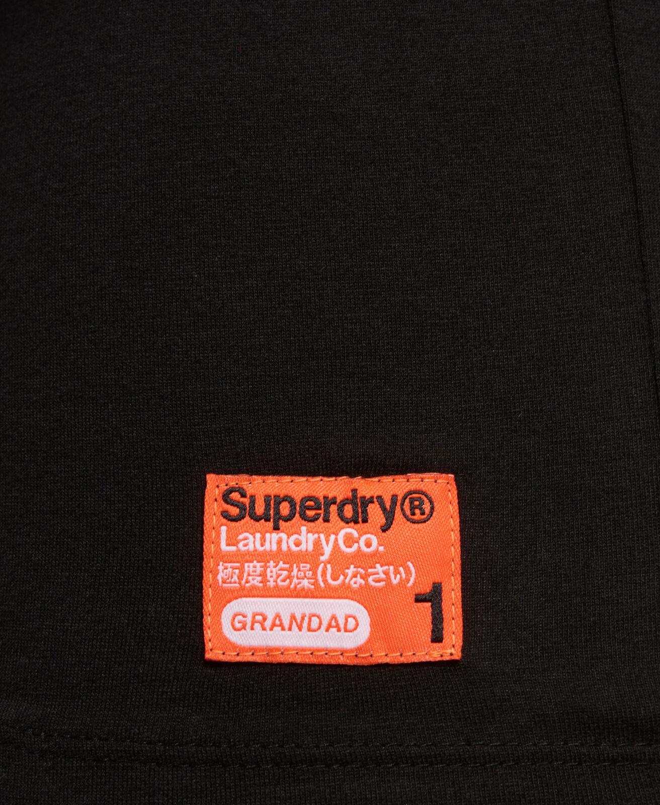 Mens-Superdry-Laundry-Organic-Cotton-Grandad-Top-Laundry-Black thumbnail 12