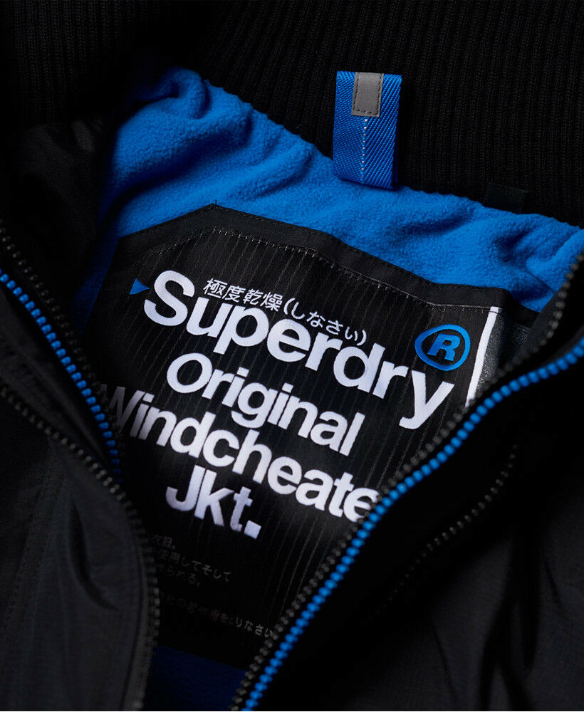 New-Mens-Superdry-Pop-Zip-Hooded-Arctic-SD-Windcheater-Black-Denby-Blue thumbnail 22