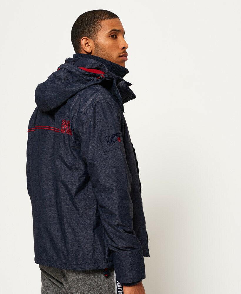 New-Mens-Superdry-Pop-Zip-Hooded-Arctic-Sd-Windcheater-Jacket-Indigo-Marl thumbnail 12