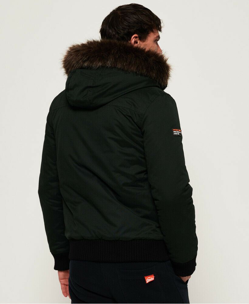 Superdry Mens Microfibre SD Wind Bomber Jacket Ivy Green S