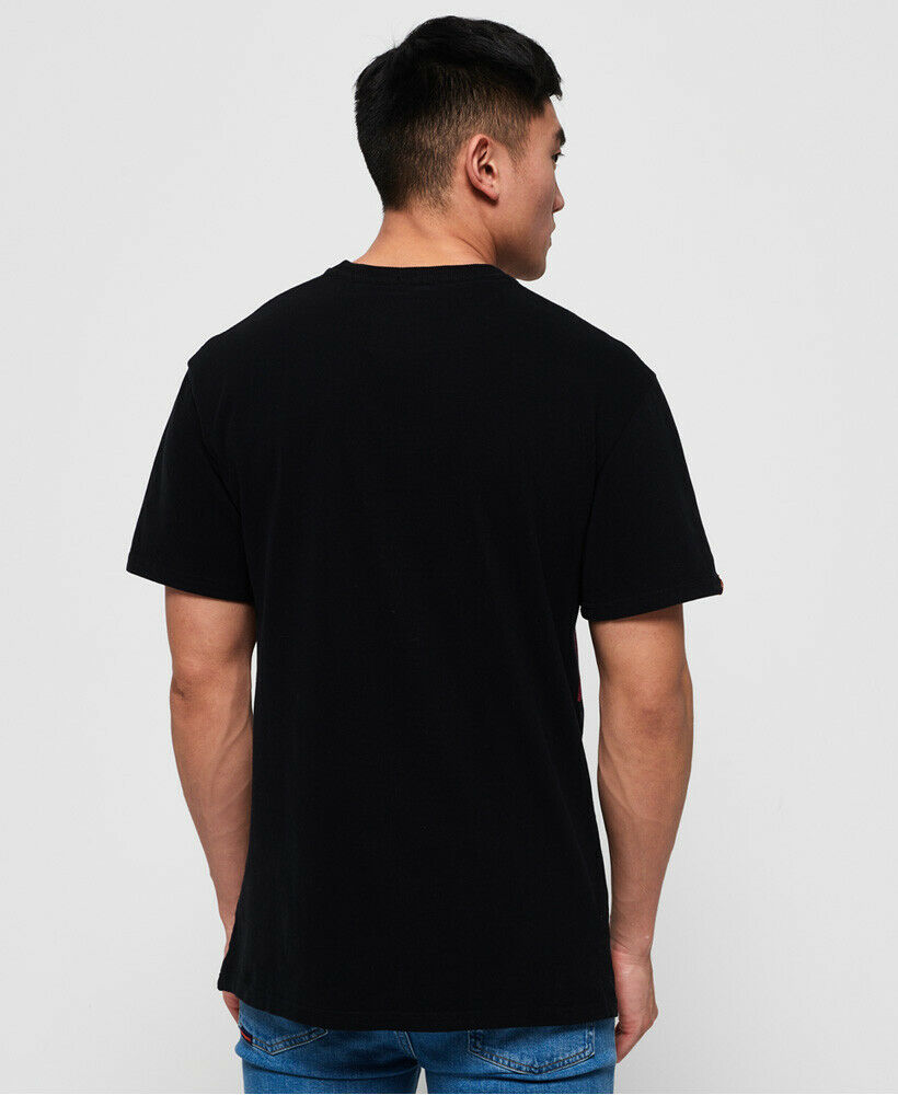 New-Mens-Superdry-Mens-Ticket-Type-Oversized-Fit-T-Shirt-Black thumbnail 12