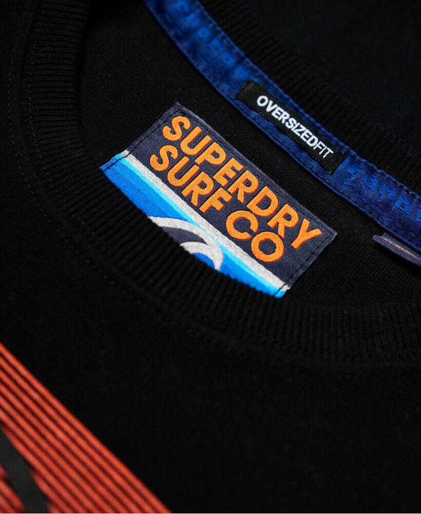 New-Mens-Superdry-Mens-Ticket-Type-Oversized-Fit-T-Shirt-Black thumbnail 9