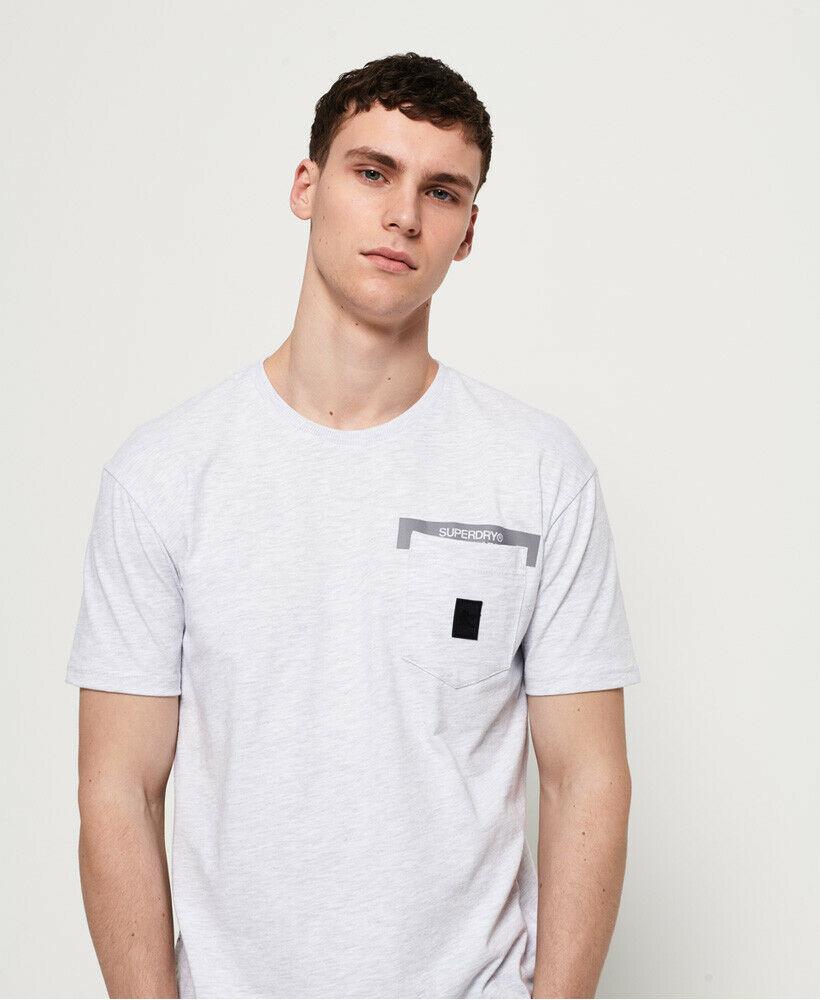 Superdry NEW Men/'s Originals Label Vintage T-Shirt Pale Lilac Marl BNWT