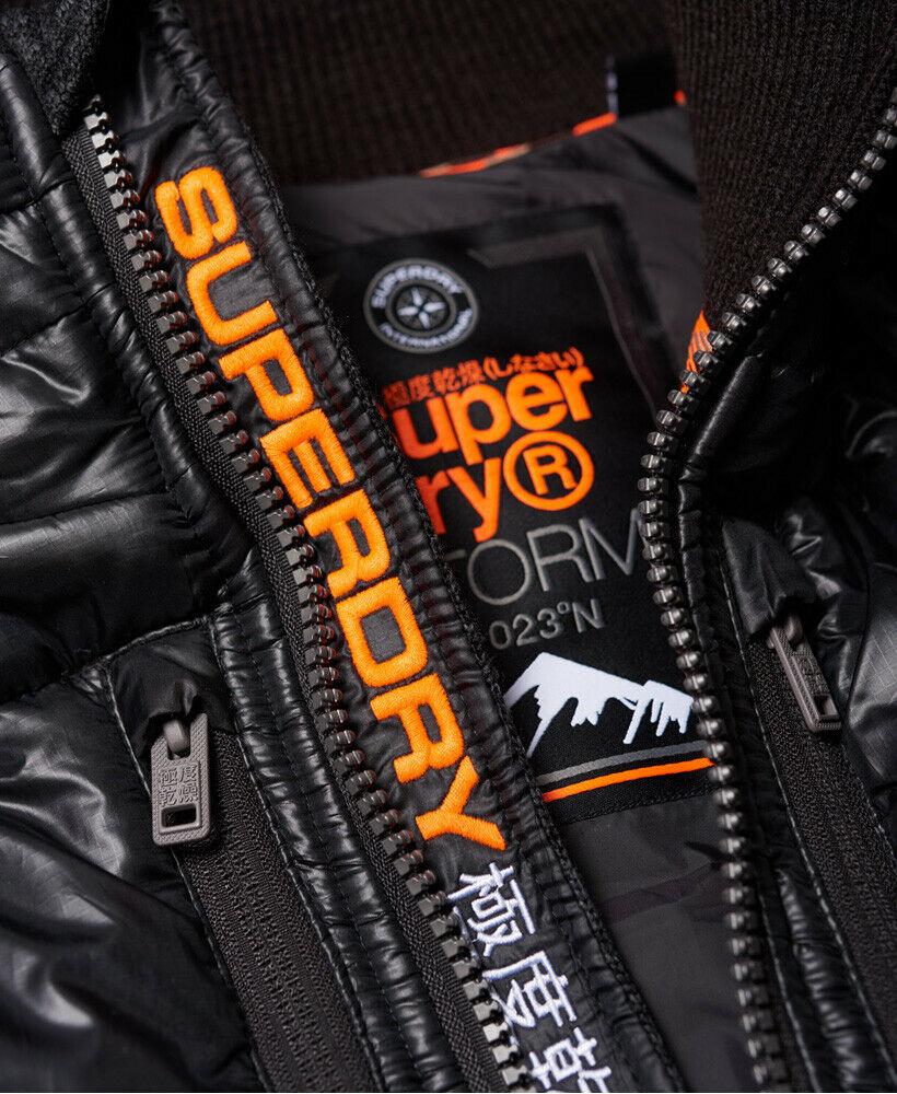 New-Mens-Superdry-Mens-Storm-Hybrid-Zip-Hoodie-Black-Granite-Marl thumbnail 11