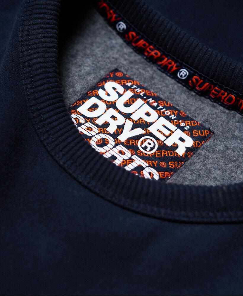 New Mens Superdry Retro Stripe Sweatshirt Navy
