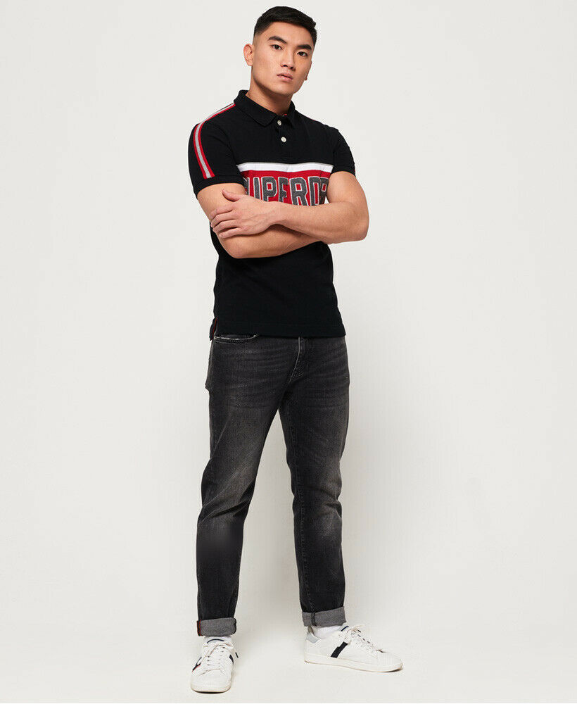 New-Mens-Superdry-Mens-Retro-Sports-Applique-Polo-Shirt-Blackboard thumbnail 13
