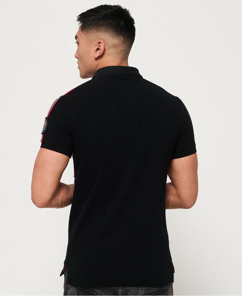 New-Mens-Superdry-Mens-Retro-Sports-Applique-Polo-Shirt-Blackboard thumbnail 12