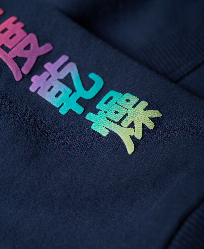 New-Womens-Superdry-City-Nights-Ombre-Puff-Hoodie-Dazzling-Blue thumbnail 13