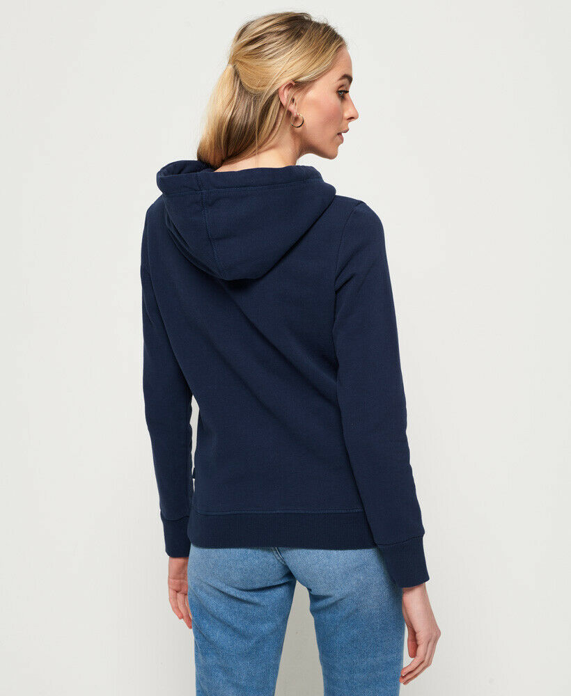 New-Womens-Superdry-City-Nights-Ombre-Puff-Hoodie-Dazzling-Blue thumbnail 14