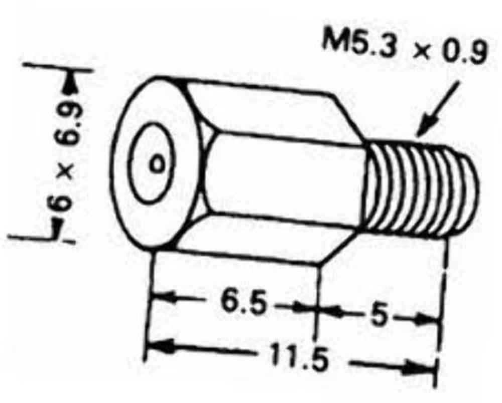 for VM /& TM Carburetor 4//042 135 4//042-135 Mikuni Large Hex Main Jet