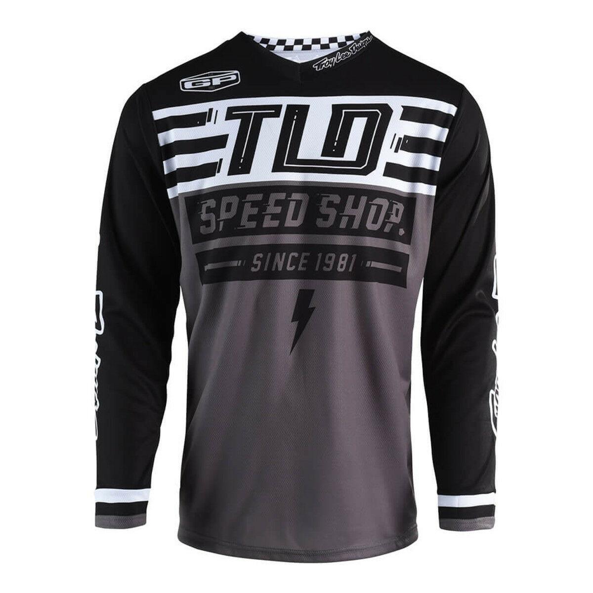 Small, Black//Cyan Troy Lee Designs Mens Offroad Motocross GP AIR Saddleback Jersey