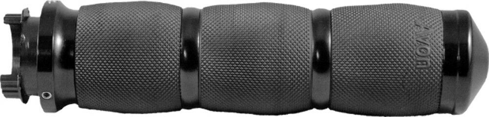 Avon MT Air Cushion Black Anodized Motorcycle Grips  MT-AIR-90-ANO