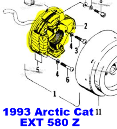 [TVPR_3874]  Arctic Cat Bearcat Cheetah 550 EXT 580 Wildcat 650 Snowmobile Stator  Assembly | eBay | Arctic Cat Wildcat 650 Wiring Diagram |  | eBay
