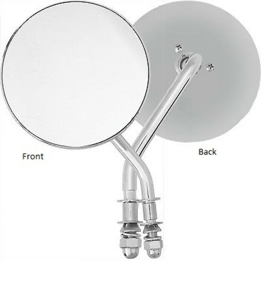 """HARDDRIVE CHROME 4/"""" ROUND MIRROR RIGHT SIDE 153083"""