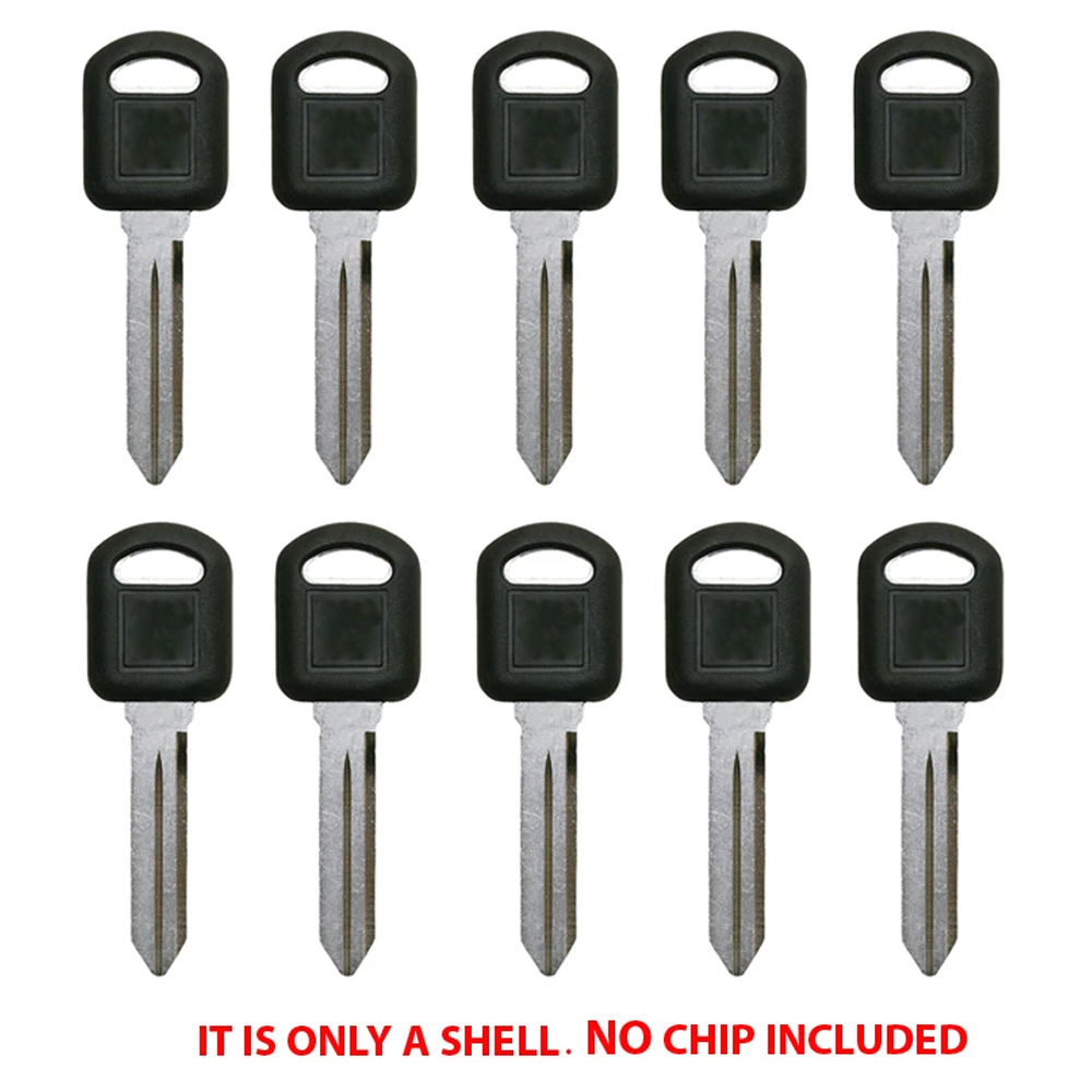 AKS Keys New Transponder Key Shell Case Compatible with Ford Uncut Blade HU101T17