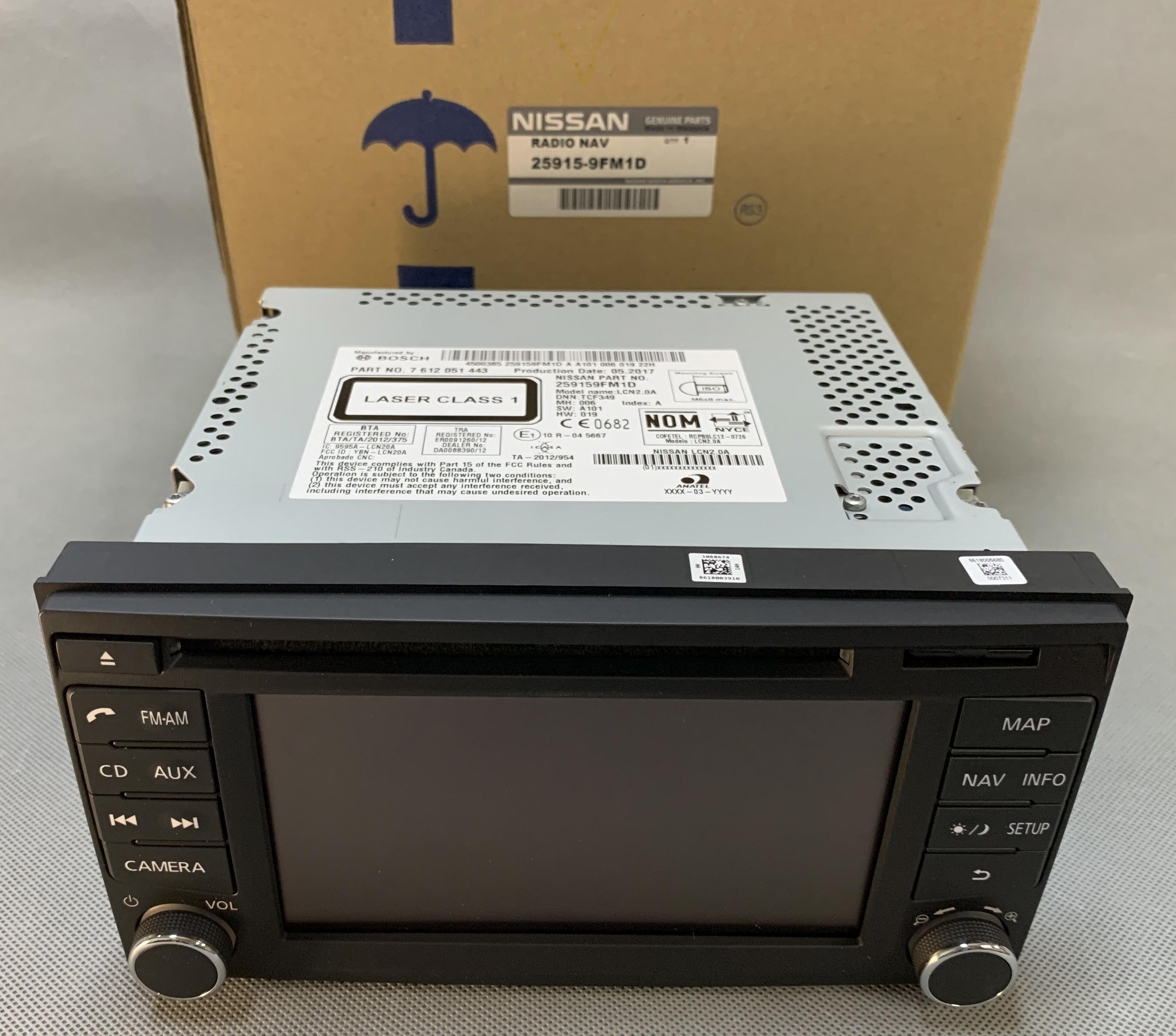 frontier radio nissan cd player bosch navigation xm receiver