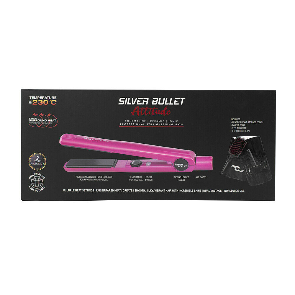 Silver-Bullet-Attitude-Straightener-NYM-Beat-The-Heat-Spray-Glomesh-Bag-Pack thumbnail 15