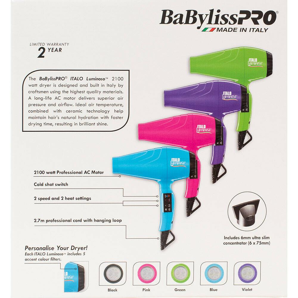 BaBylissPRO-Luminoso-2100W-Hair-Dryer-Brushworx-Porcupine-Cushion-Brush-Pack thumbnail 8
