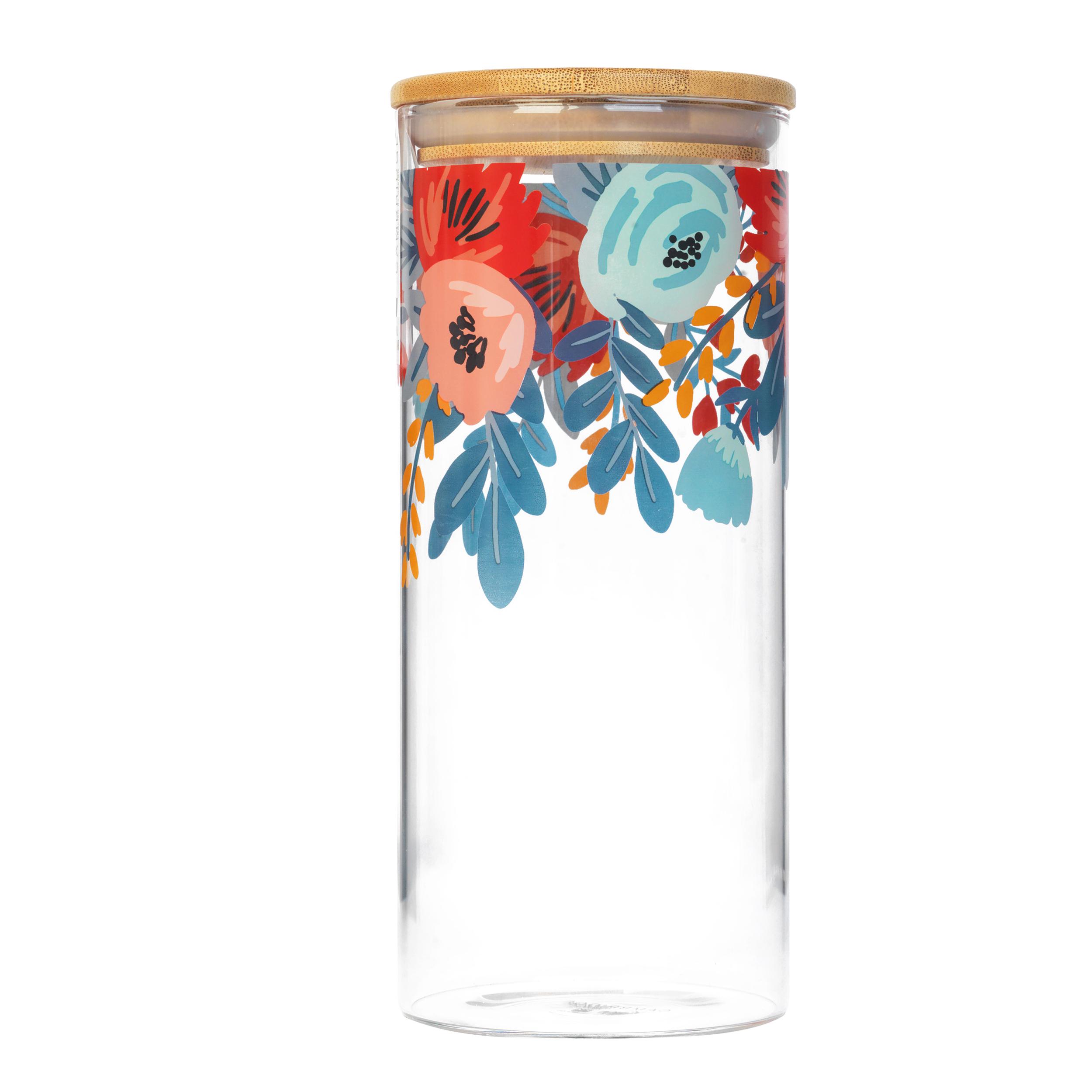 thumbnail 4 - Cambridge® Storage Preserving Glass Jar, 1200 ml, Spring Meadow/Doodle/Arielle