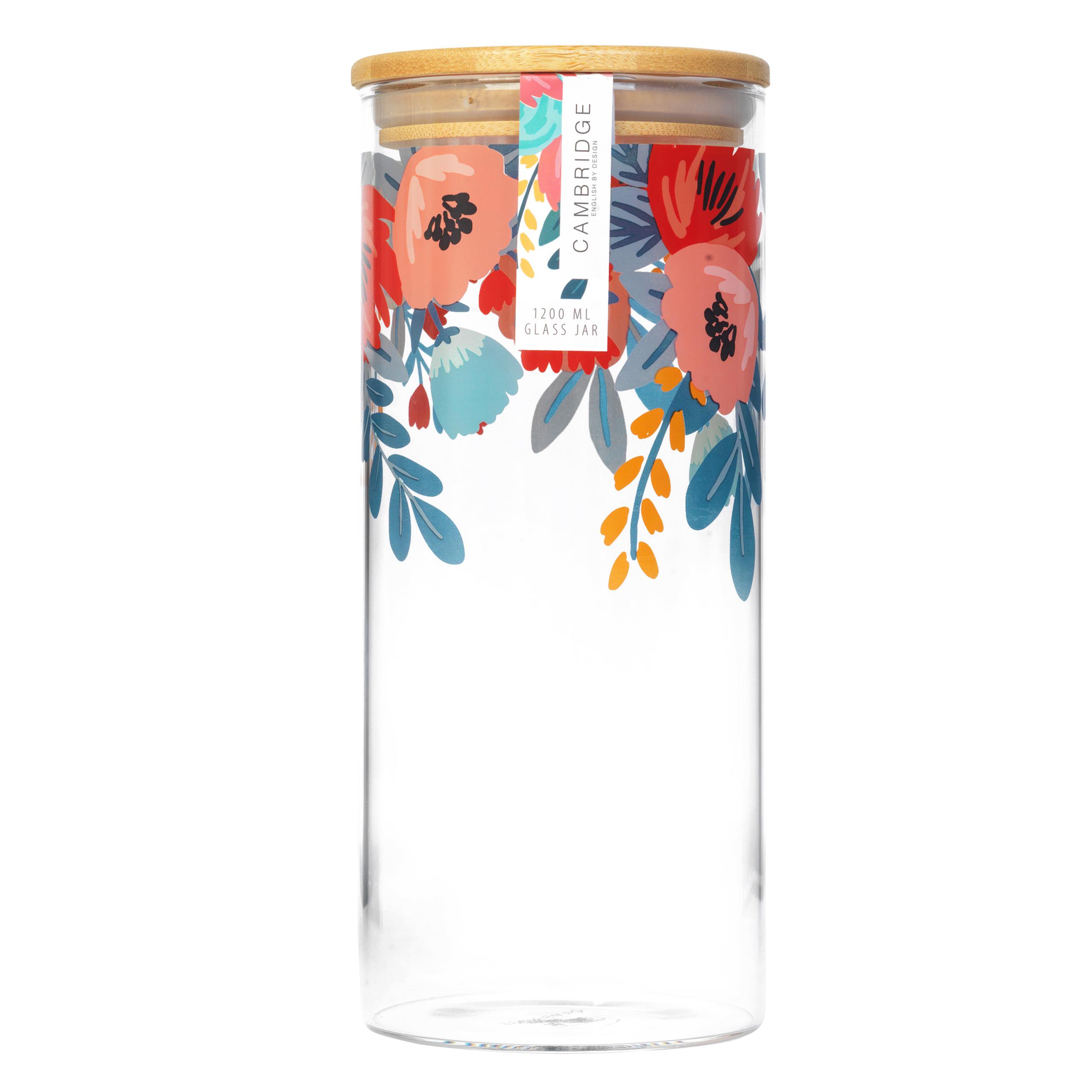 thumbnail 6 - Cambridge® Storage Preserving Glass Jar, 1200 ml, Spring Meadow/Doodle/Arielle