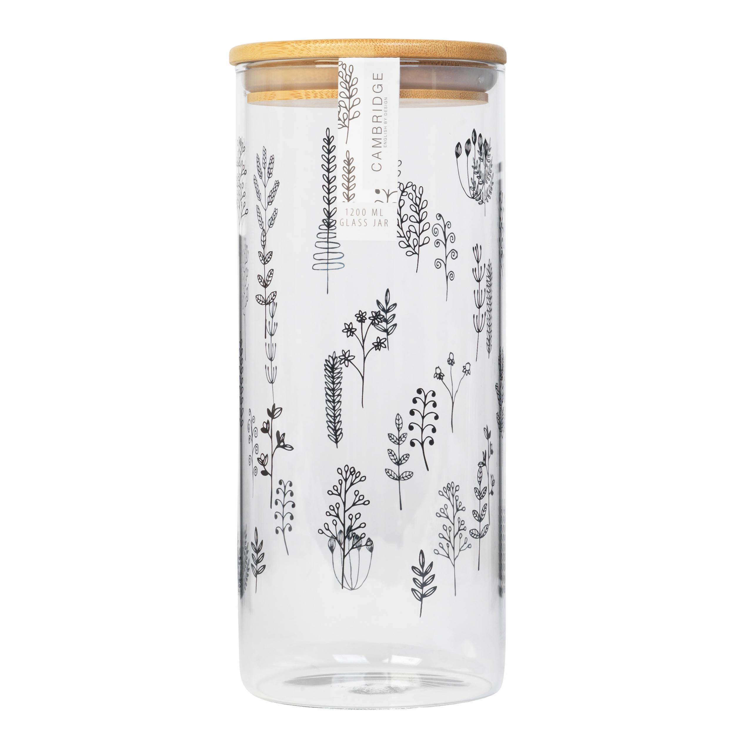 thumbnail 11 - Cambridge® Storage Preserving Glass Jar, 1200 ml, Spring Meadow/Doodle/Arielle