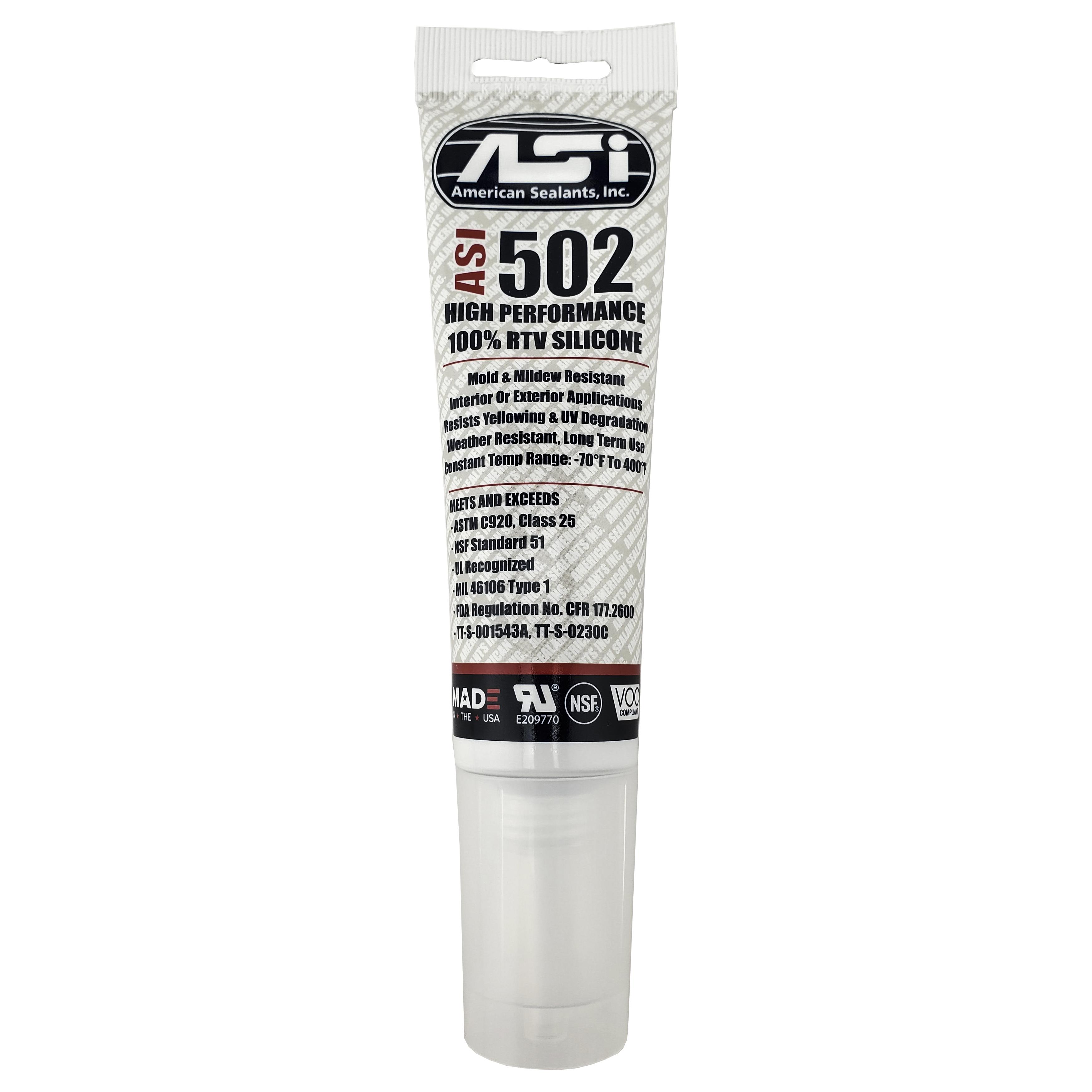 ASI 502 White Food Grade 100% RTV Silicone Sealant - 2.8 ...
