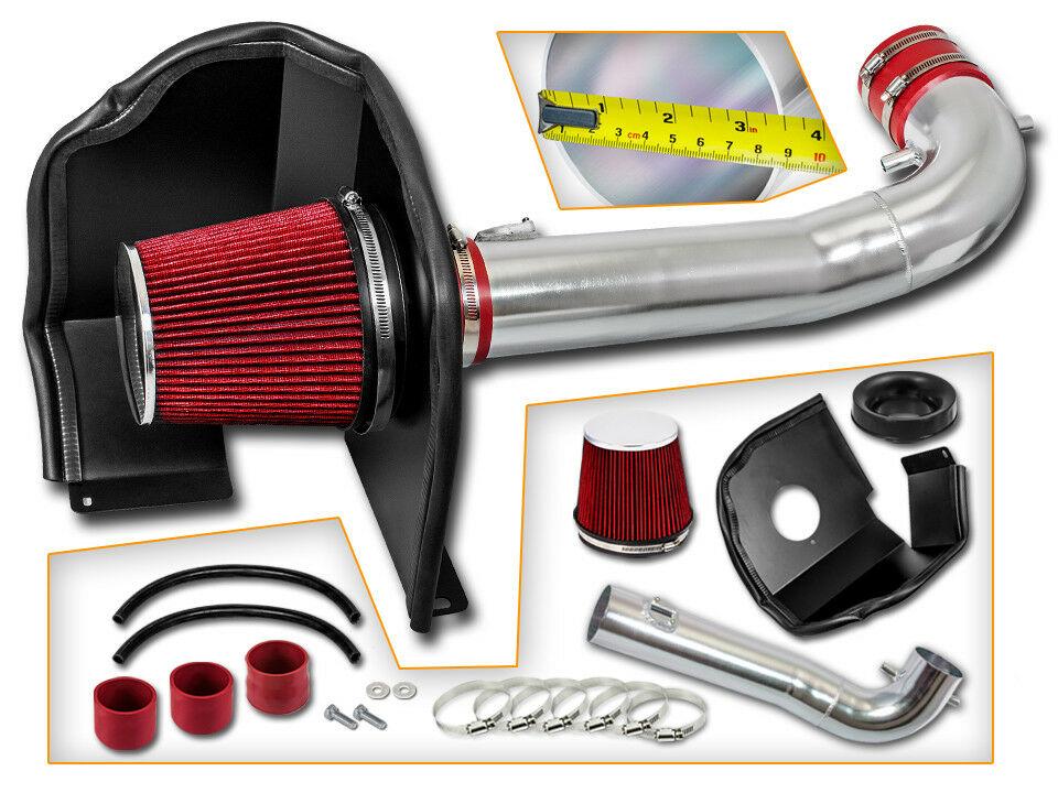 MATT BLACK Air Intake Kit Heat Shield For GMC 14-19 Sierra 1500 5.3L 6.2L V8