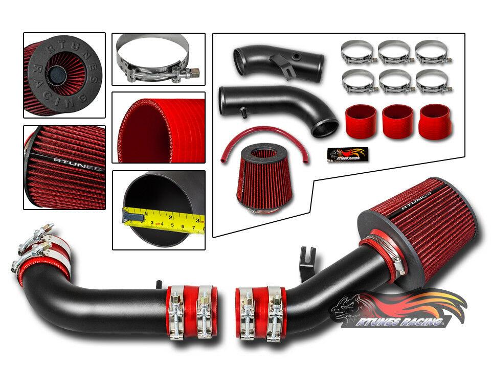 High Performance Parts Short Ram Air Intake Kit & Red Filter Combo ...